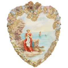 19th Century Porcelain Plaque with Hand-Painted Plaque by Turner