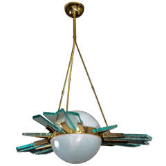 1970s, Italian Chandelier in the Manner of Pietro Chiesa