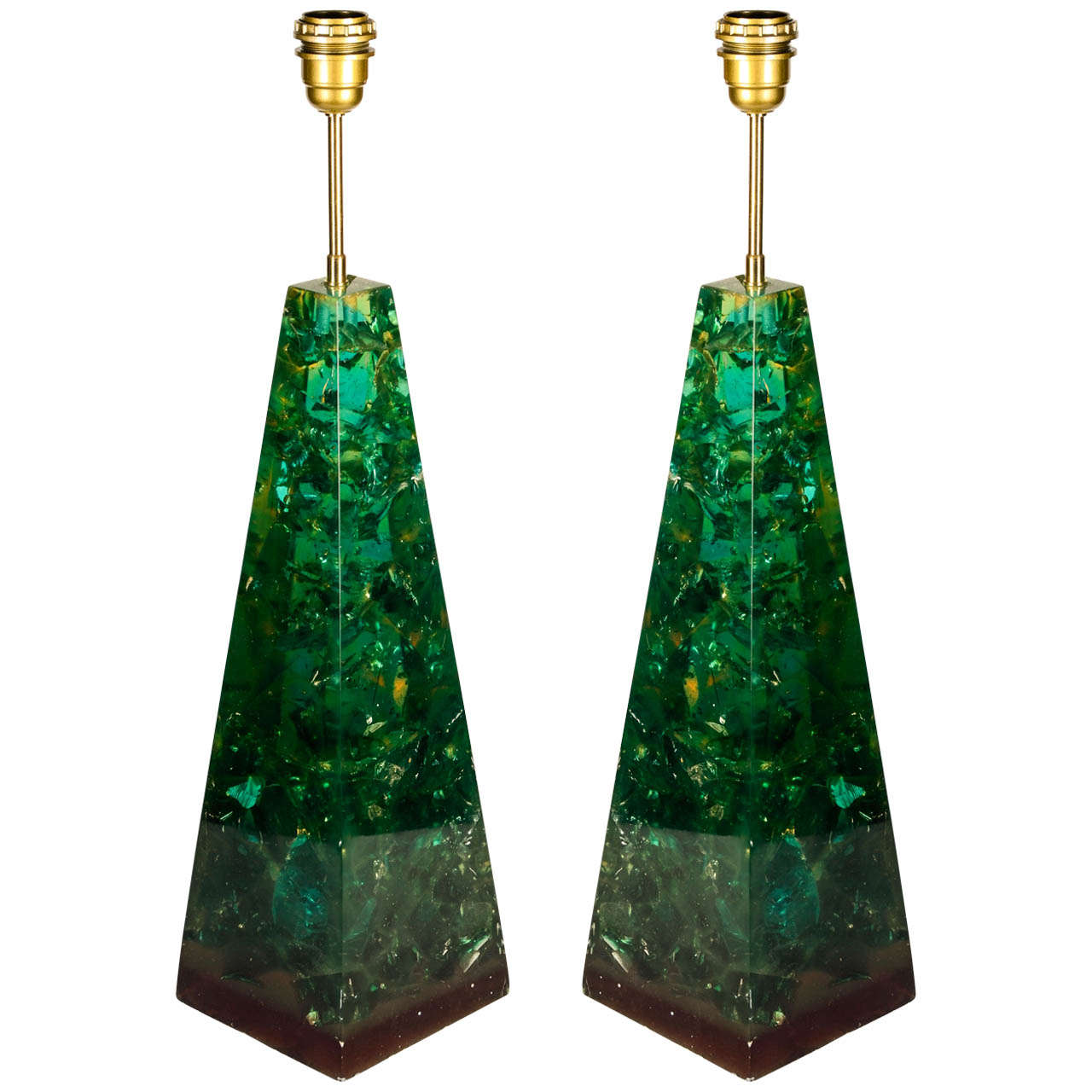 Pair of Resin Table Lamps by Marie Claude de Fouquieres at 1stdibs