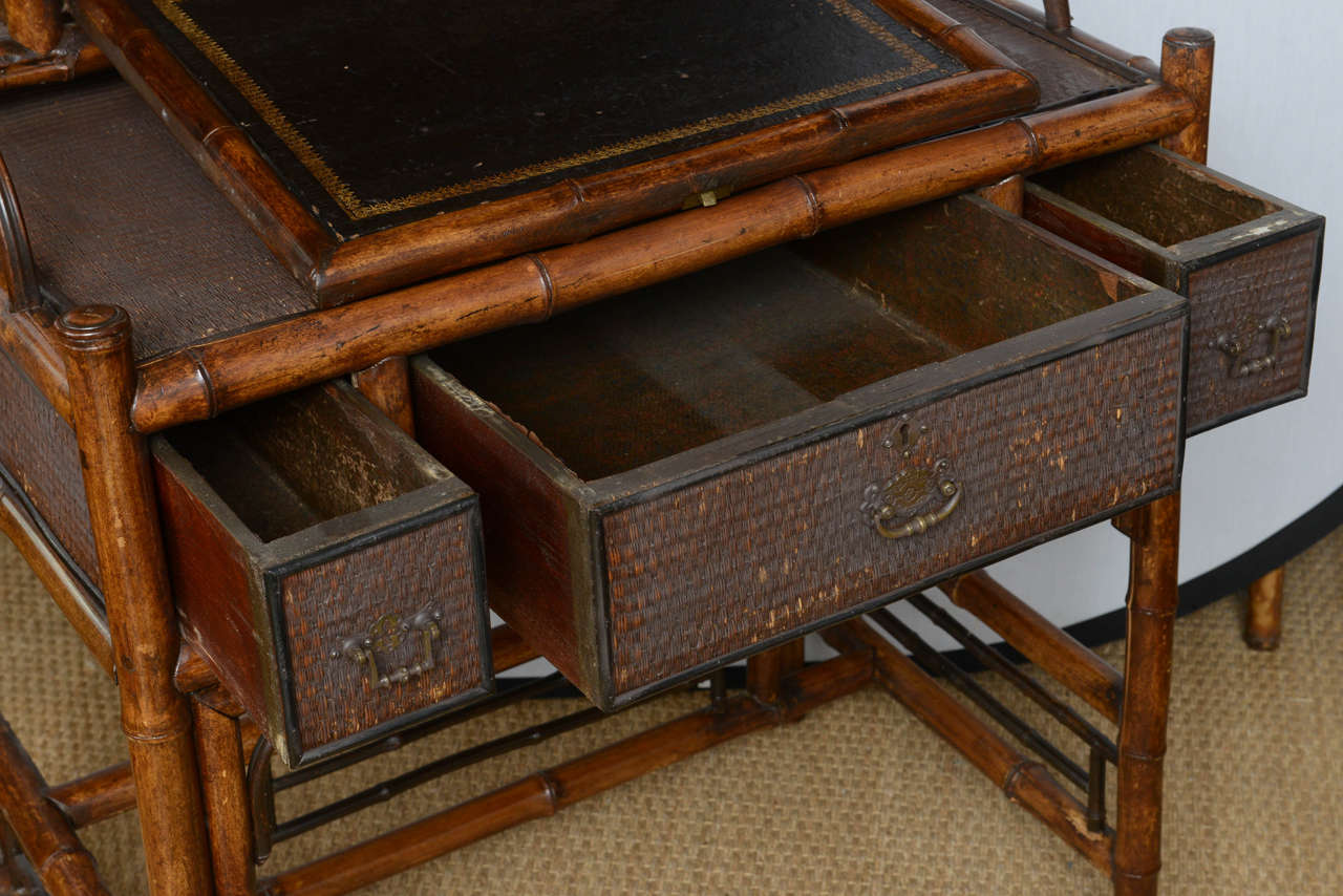 19th Century English Bamboo Flip Flop Desk For Sale 2