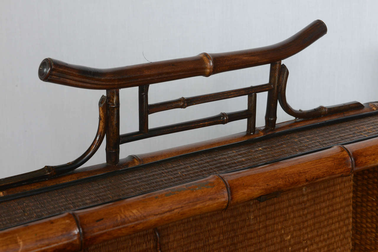 19th Century English Bamboo Flip Flop Desk For Sale 3
