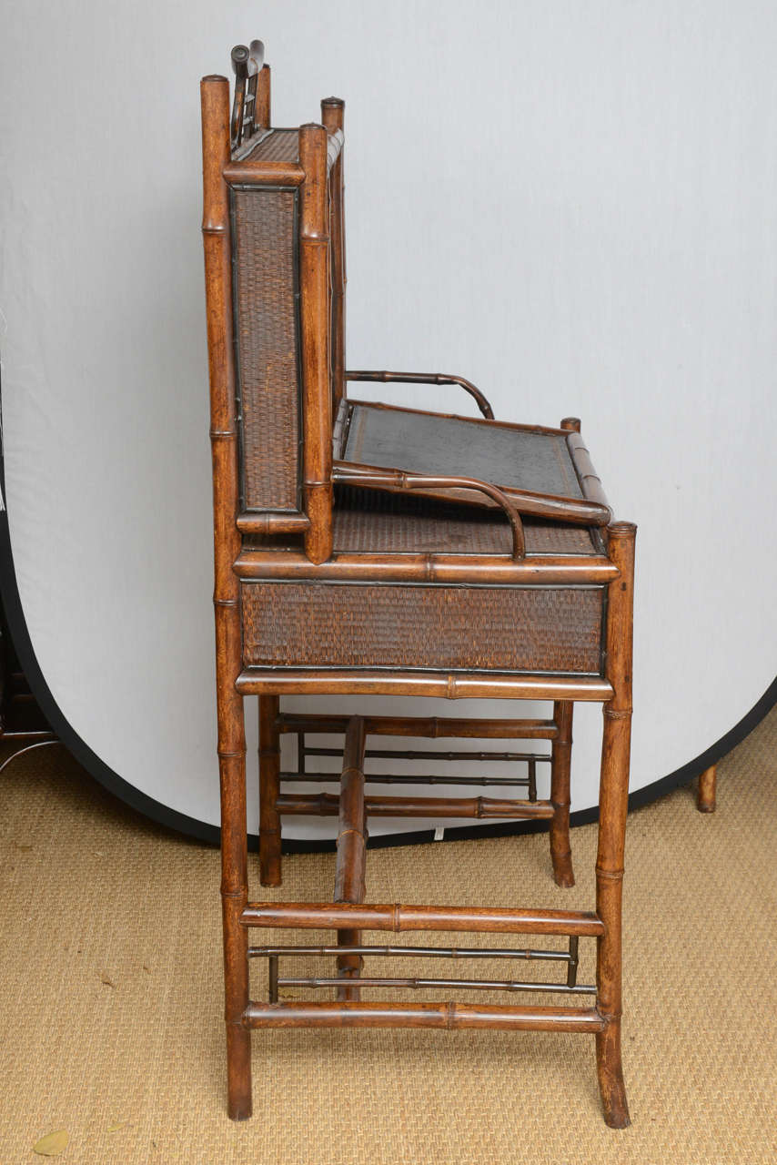 19th Century English Bamboo Flip Flop Desk For Sale 4