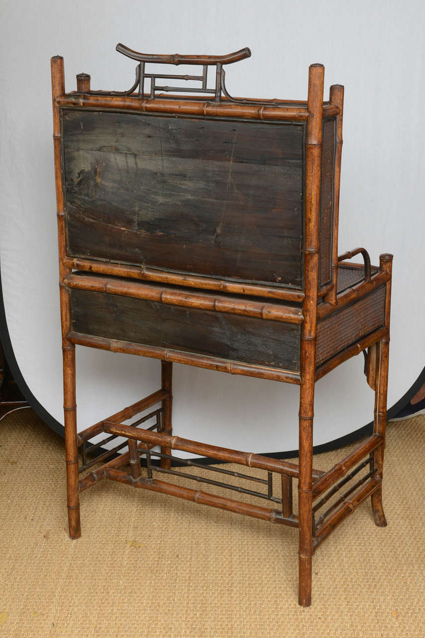 19th Century English Bamboo Flip Flop Desk For Sale 5