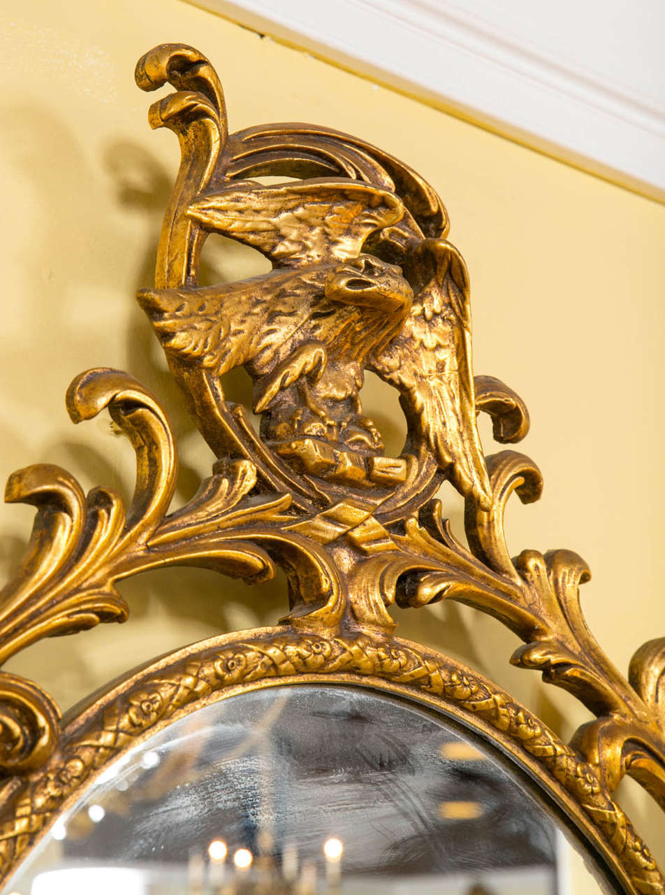 oval office carpet eagle. Georgian Style Gilt Exquisitely Carved Oval Mirror Adorning A Winged Eagle For Sale 2 Office Carpet E