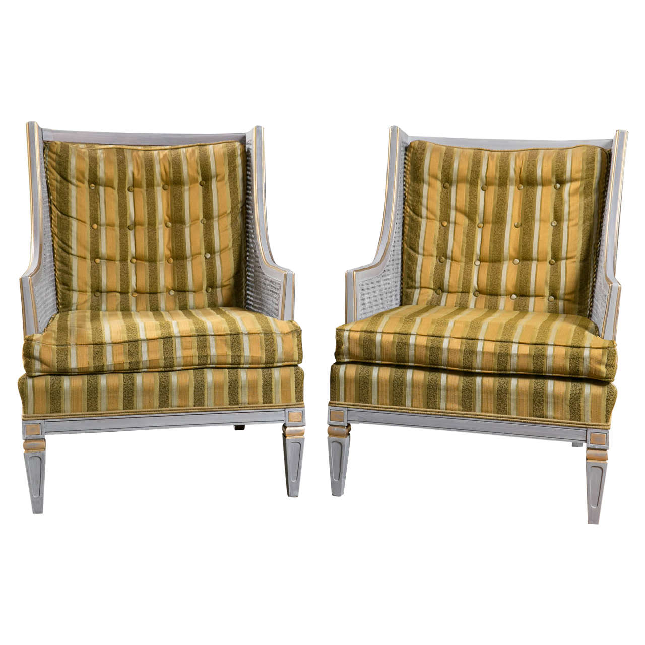 Pair of Statesville Swedish Painted Armchairs
