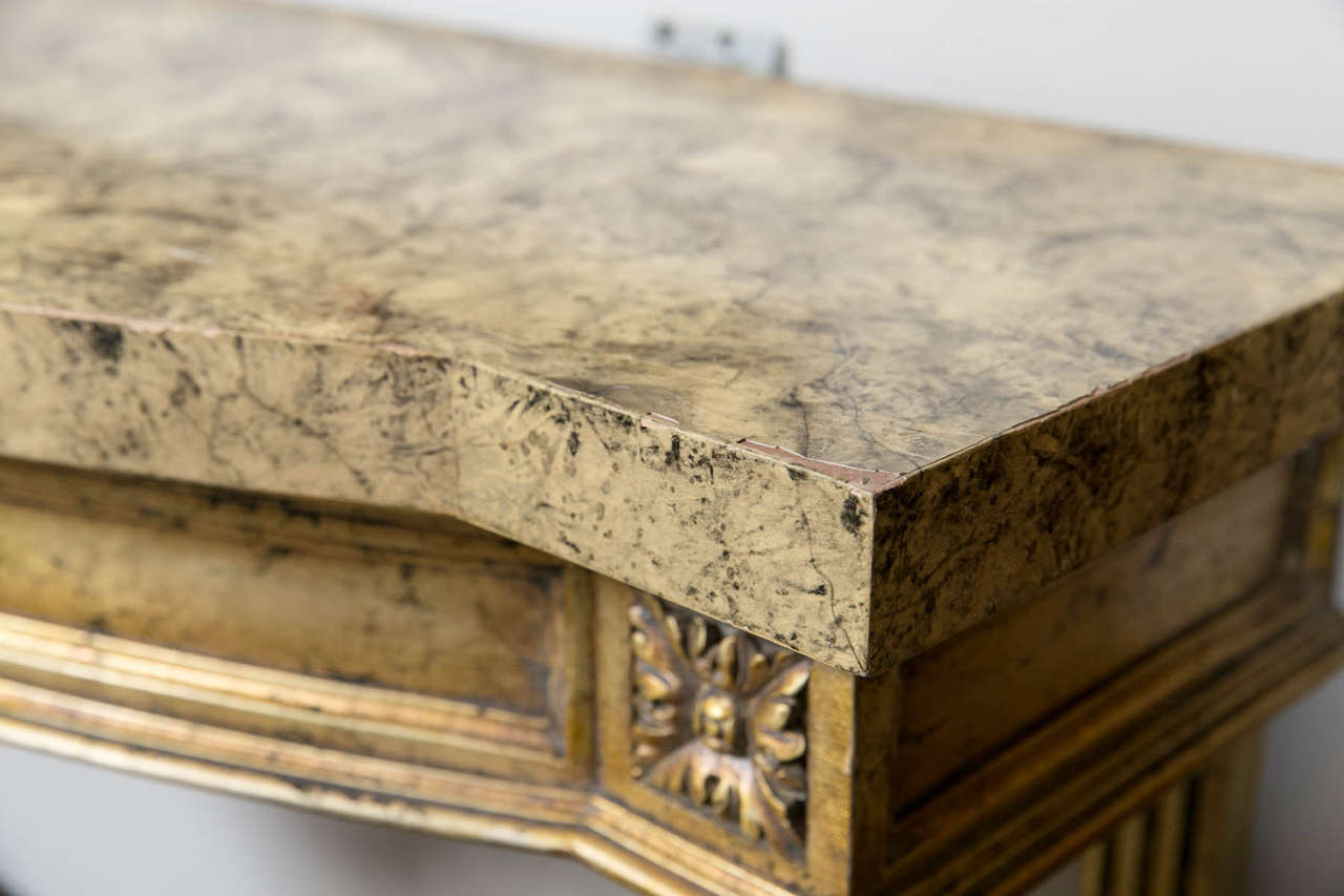 Argentine Faux Marble-Top Louis XV Style Console Table Attributed to Maison Jansen For Sale