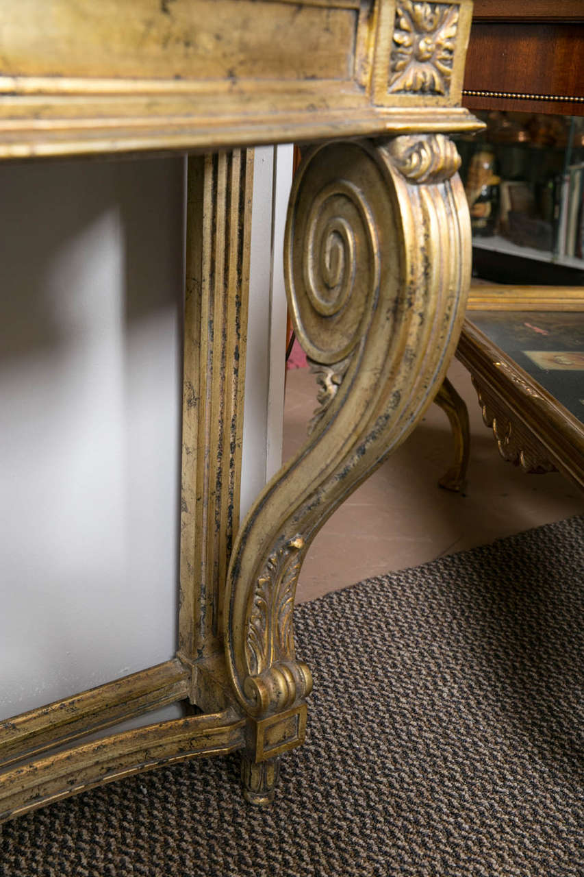 Faux Marble-Top Louis XV Style Console Table Attributed to Maison Jansen For Sale 3