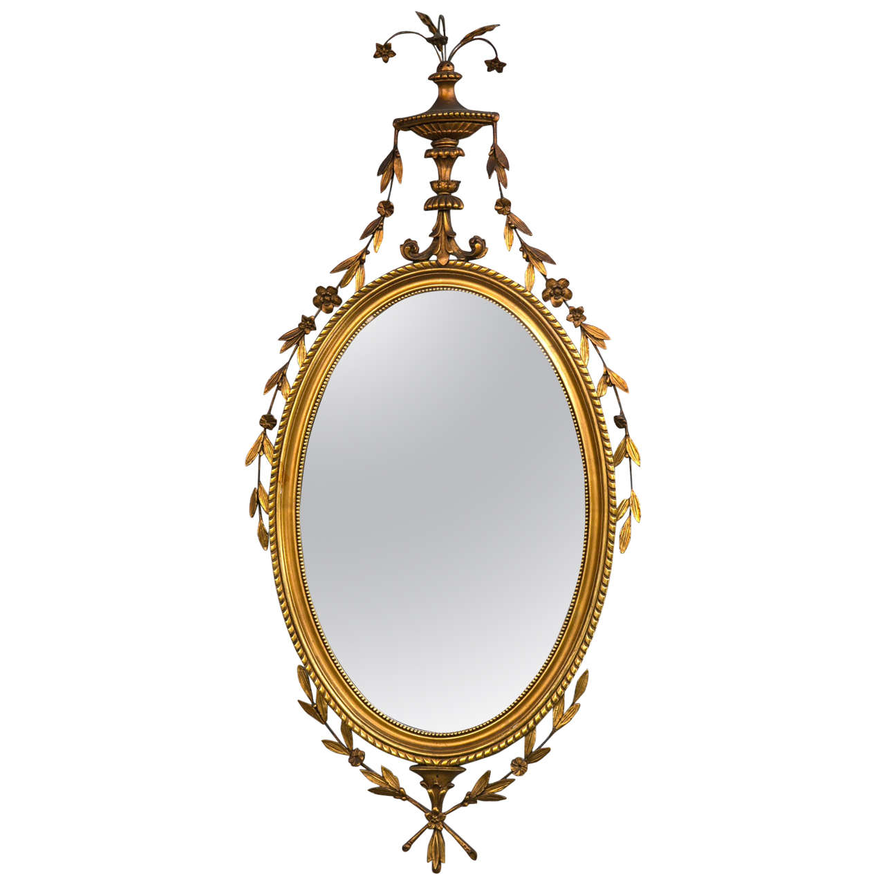 Giltwood and gesso carved adams style mirror for sale at for Adam style mirror