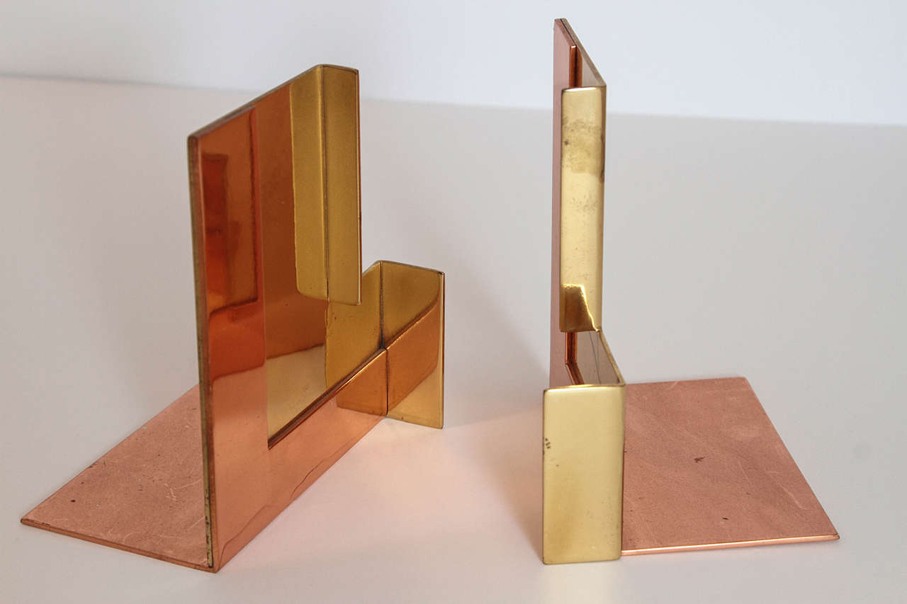 American Alternate Versions of Chase Moderne Bookends, RIVETED PAIR SOLD For Sale
