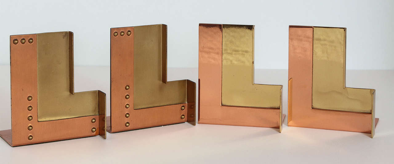 Alternate Versions of Chase Moderne Bookends, RIVETED PAIR SOLD For Sale 3