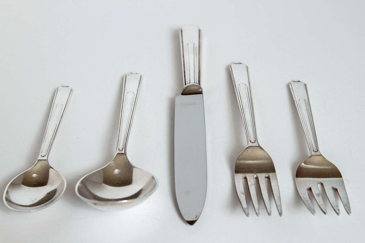 Mid-20th Century Art Deco Modernist Silver Plate Reed & Barton