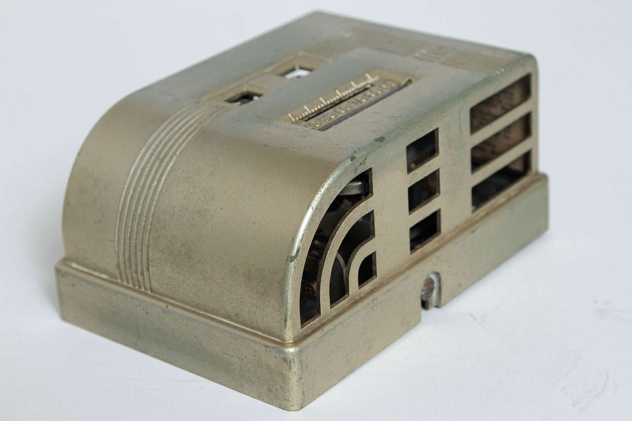 American Machine Age Art Deco Industrial Design Patented Henry Dreyfuss Thermostats For Sale