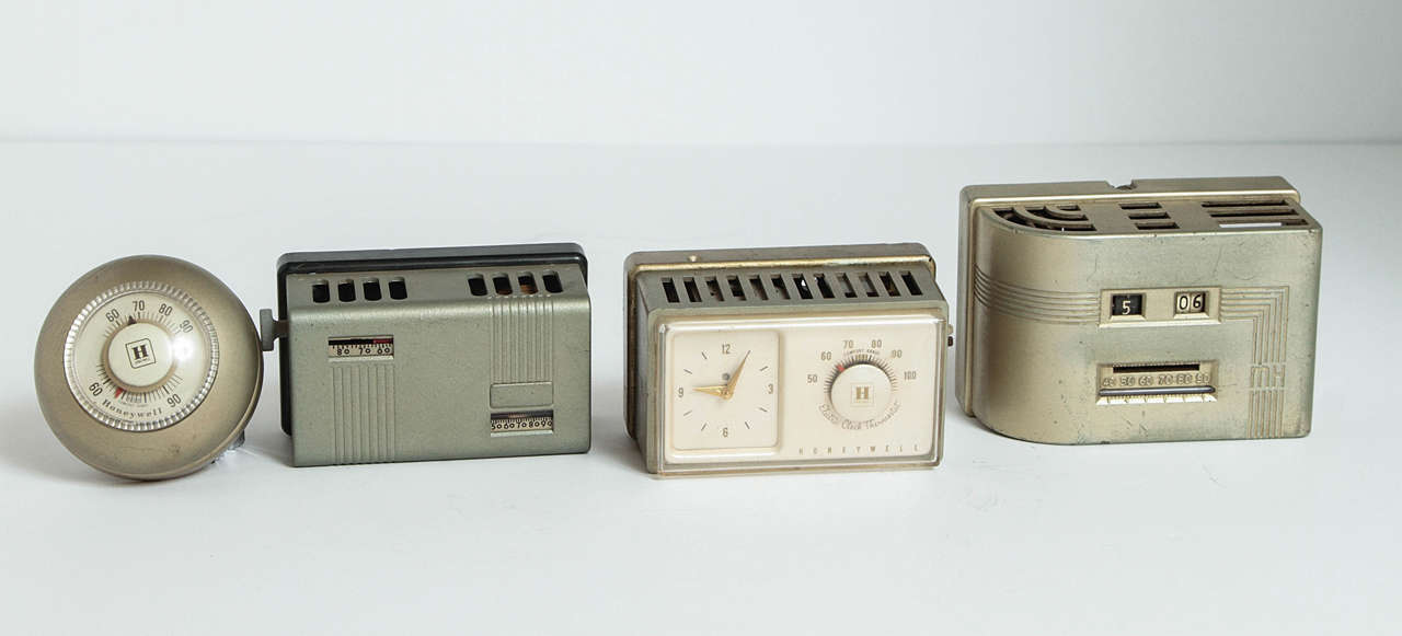Machine Age Art Deco Industrial Design Patented Henry Dreyfuss Thermostats For Sale 5