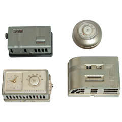 Machine Age Art Deco Industrial Design Patented Henry Dreyfuss Thermostats