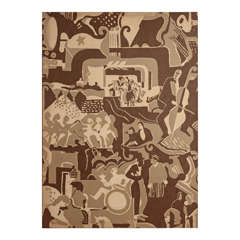 Extreme Jazz Age Mounted Stockwell Fabric, after Radio City Ruth Reeves design