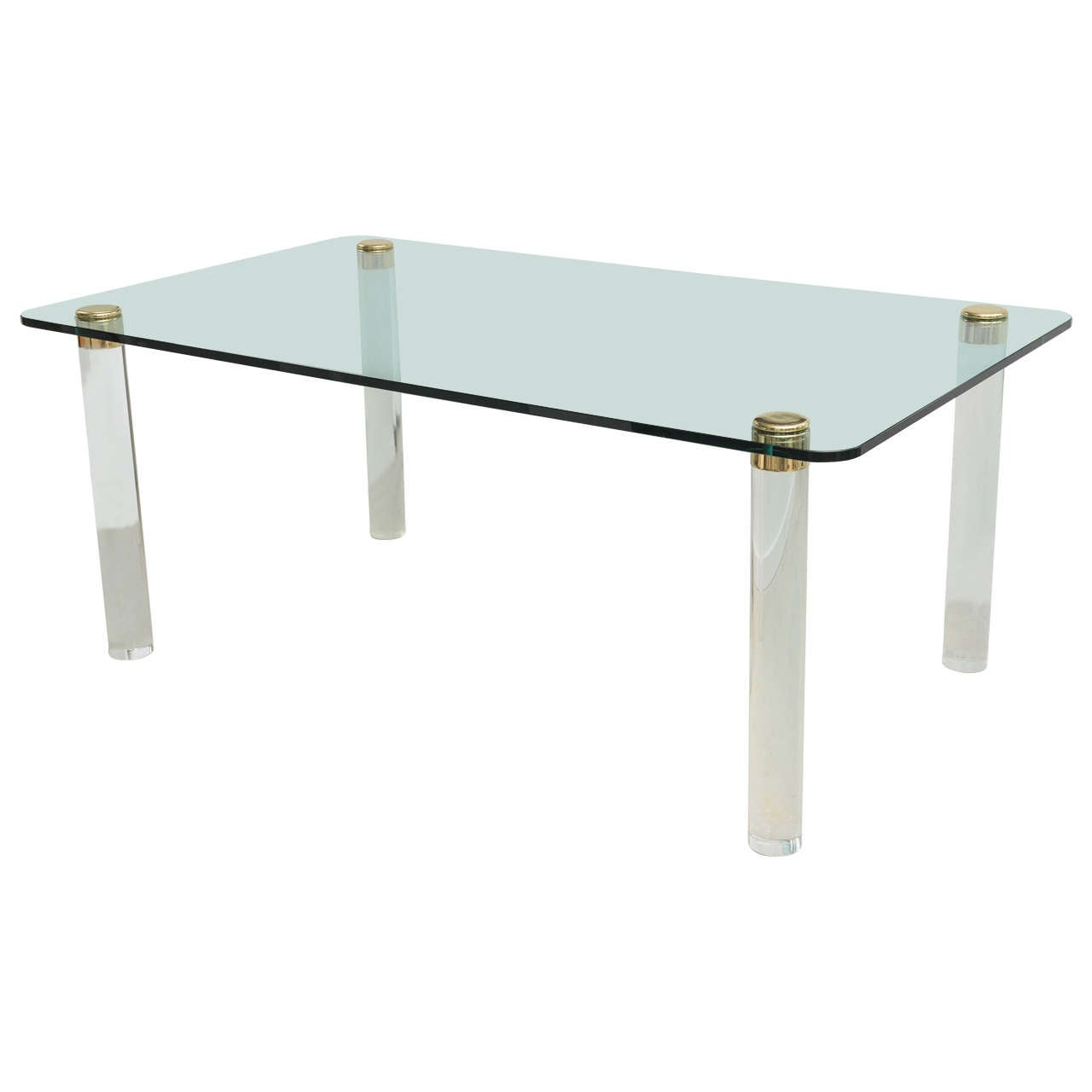 rectangular lucite and glass dining table by pace at 1stdibs. Black Bedroom Furniture Sets. Home Design Ideas