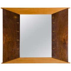 Italian Wood Framed Art Deco Mirror