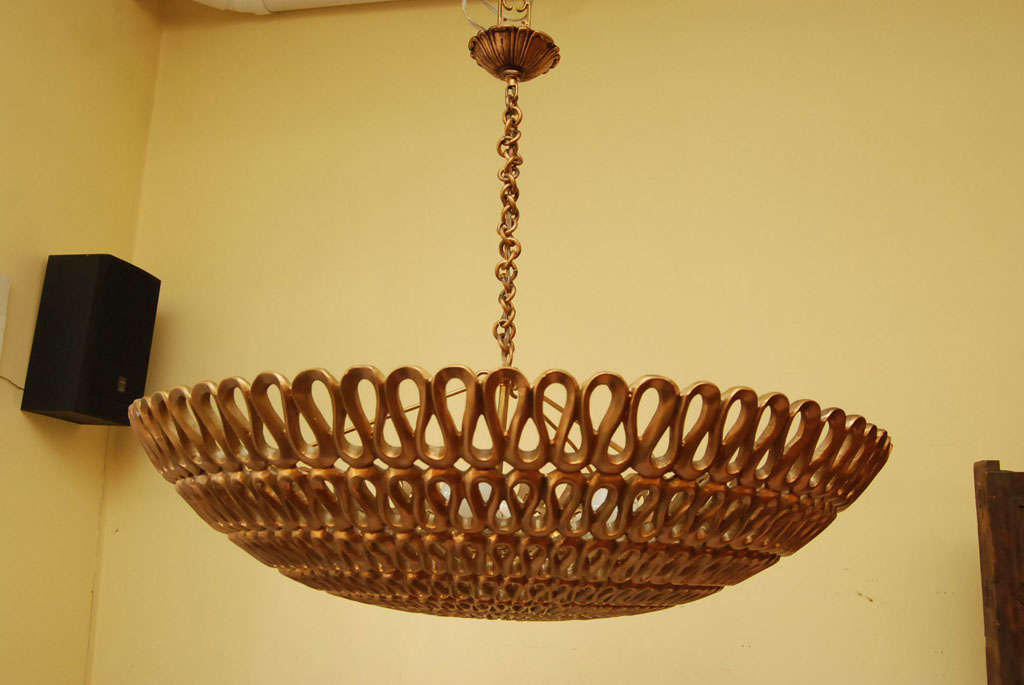 A mid-Century Dome ceiling fixture 3