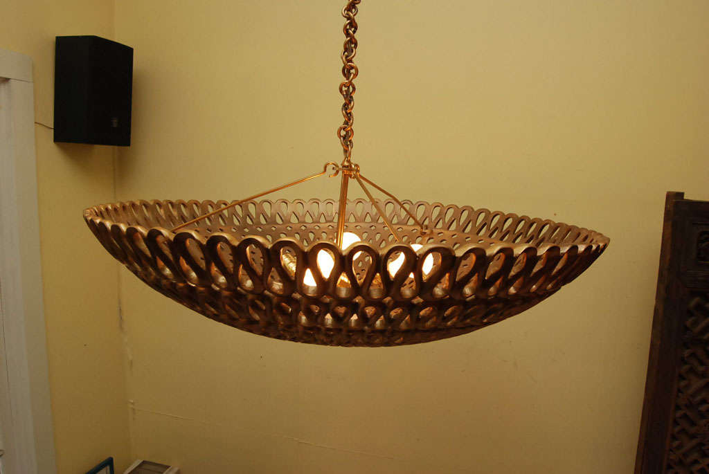 A mid-Century Dome ceiling fixture 9