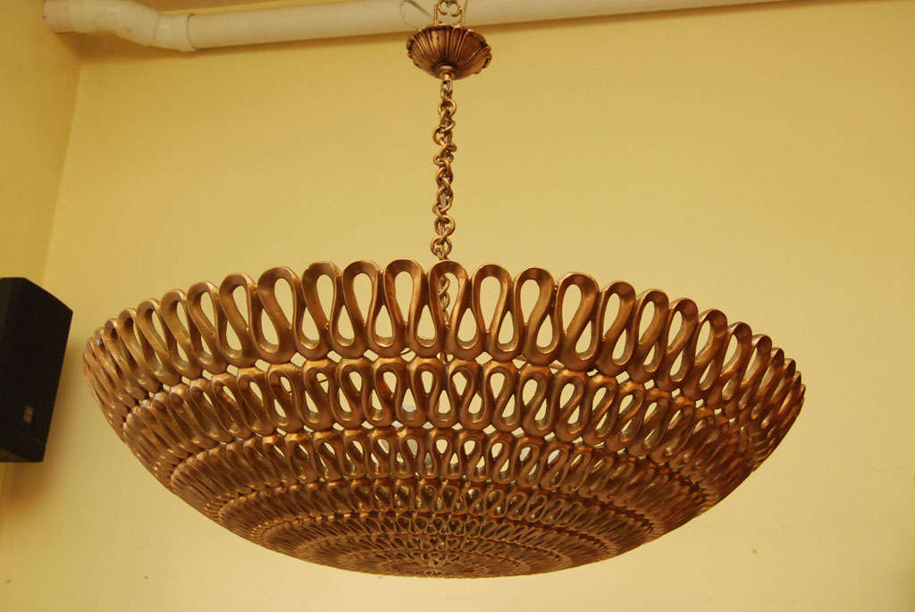 A mid-Century Dome ceiling fixture 2