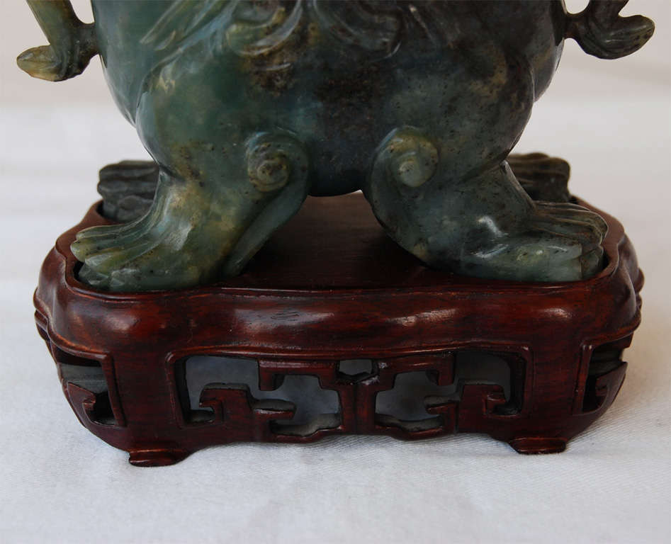 20th Century A Fine Late 19th or Early 20th C.  Carved Jade Urn For Sale