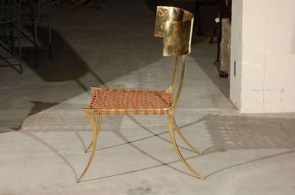 Brass Klismos Style Chairs For Sale 2