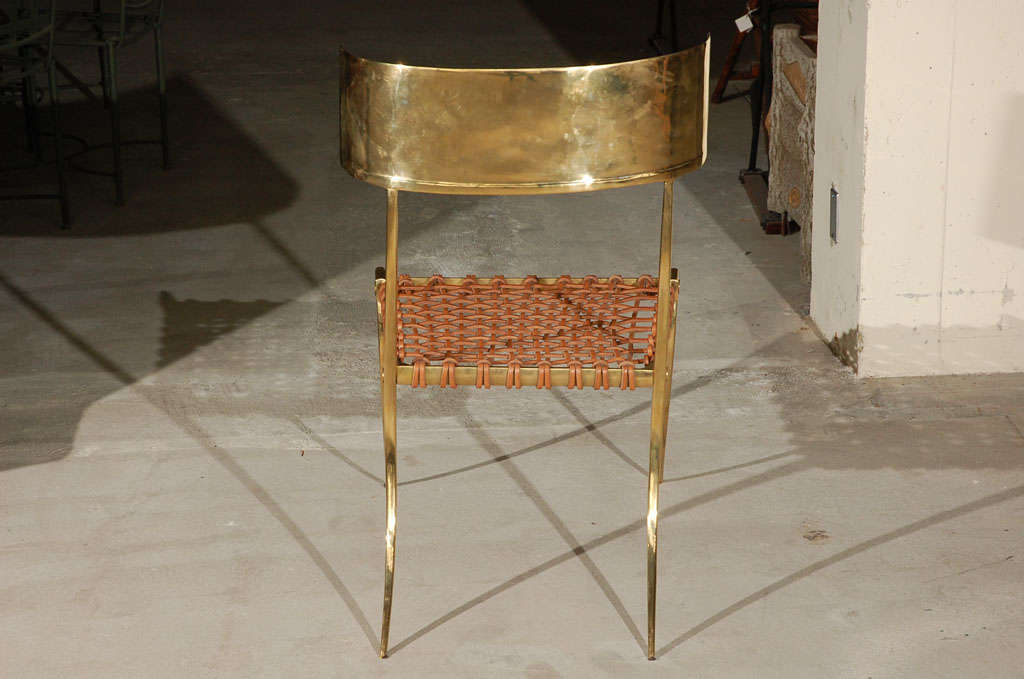 Brass Klismos Style Chairs For Sale 4