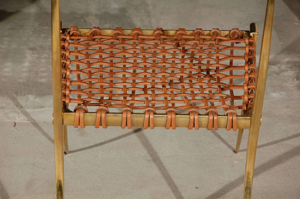 Brass Klismos Style Chairs For Sale 5