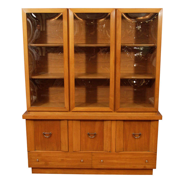 Mid Century Oak Wall Unit By Witz Furniture Industries At 1stdibs