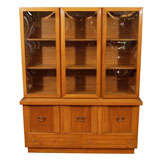 Mid Century Oak Wall Unit by Witz Furniture Industries