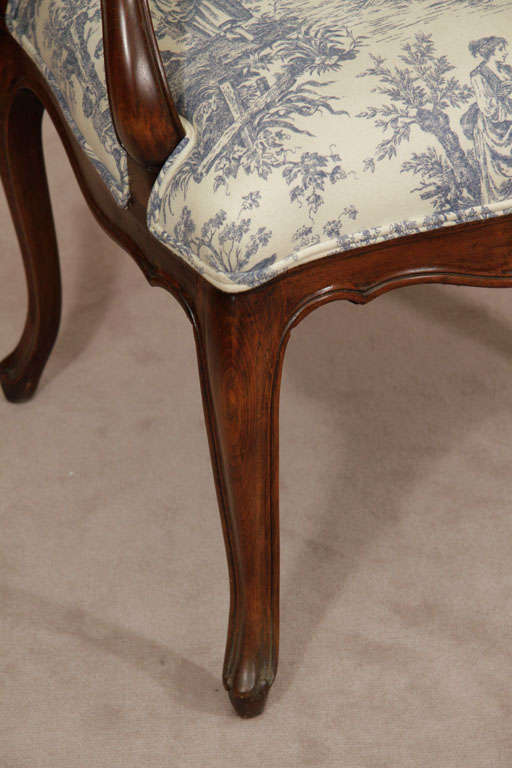 Peachy Blue Toile Chair The Arts Machost Co Dining Chair Design Ideas Machostcouk