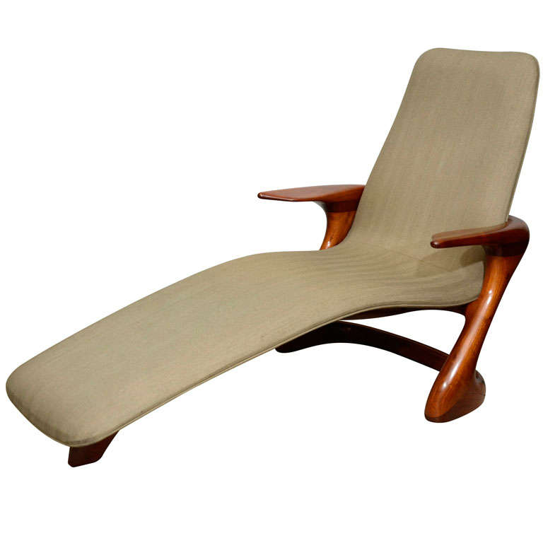 Mid century italian chaise lounge at 1stdibs for Chaise longue lounge