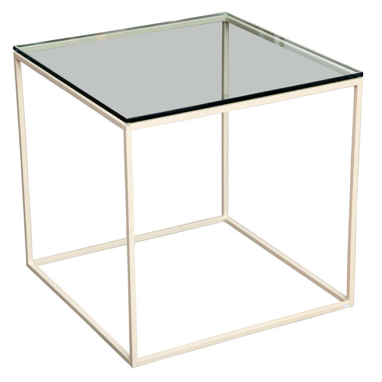 Steel cube side table at 1stdibs for Cube side table