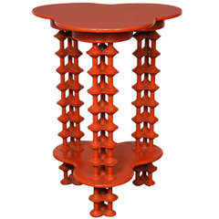 "Extremely Orange ""Spool"" Table"