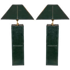 Wonderful Green Leather Lamps