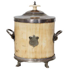 Silver and Ivory Tea Caddy