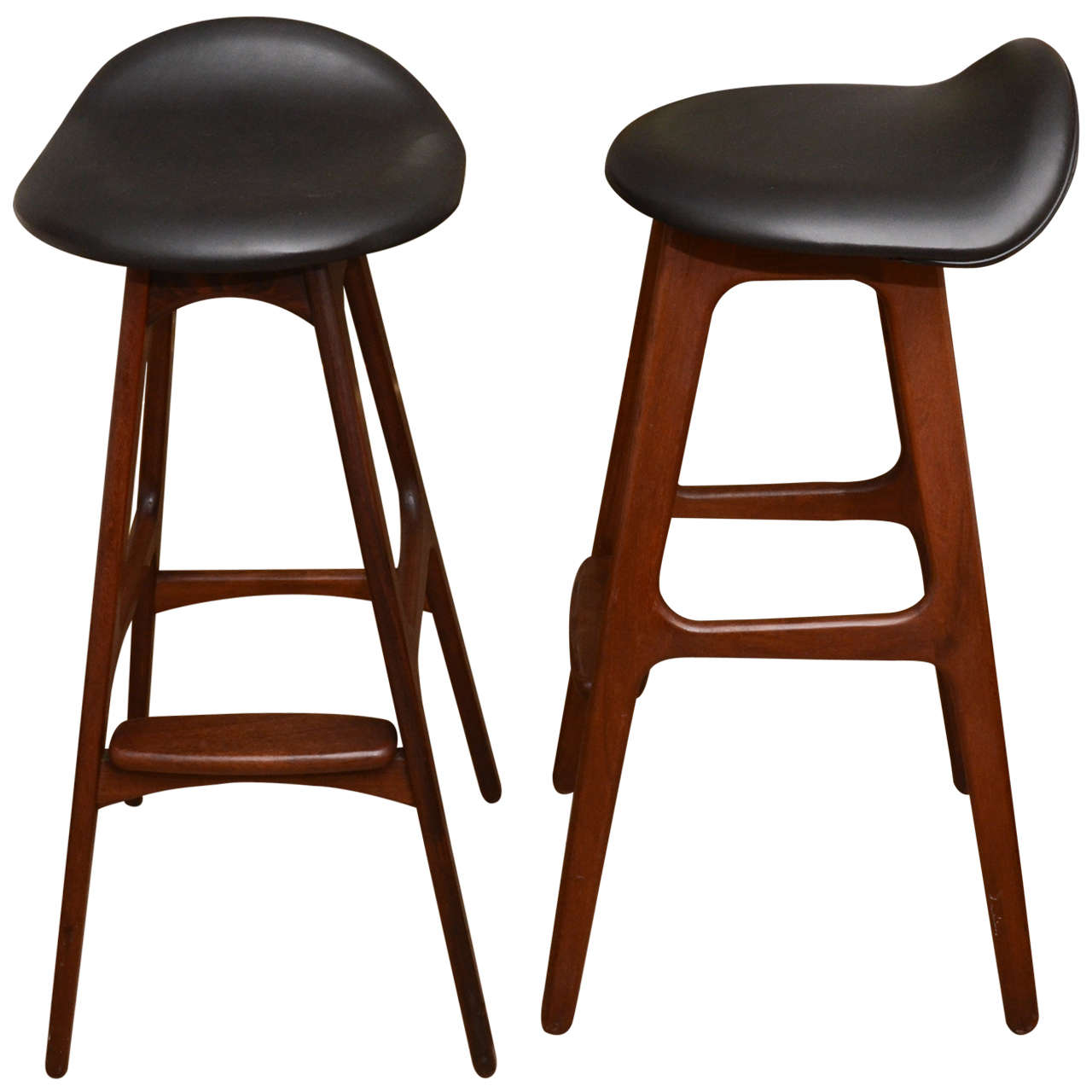Pair of erik buch bar stools at 1stdibs - Erik buch bar stool ...