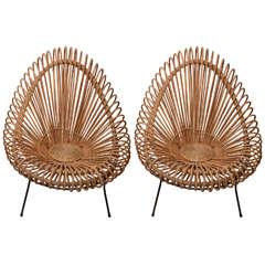 Pair of Albini Rattan Chairs