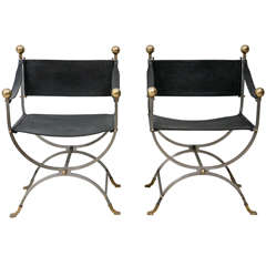 Pair of Maison Jansen Side Chairs