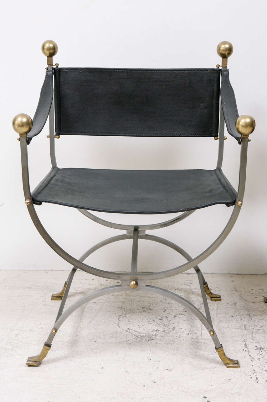Pair Of Maison Jansen Side Chairs At 1stdibs