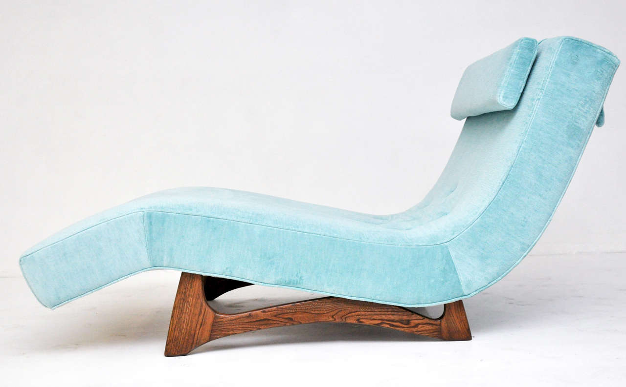 Wood Adrian Pearsall Wave Chaise