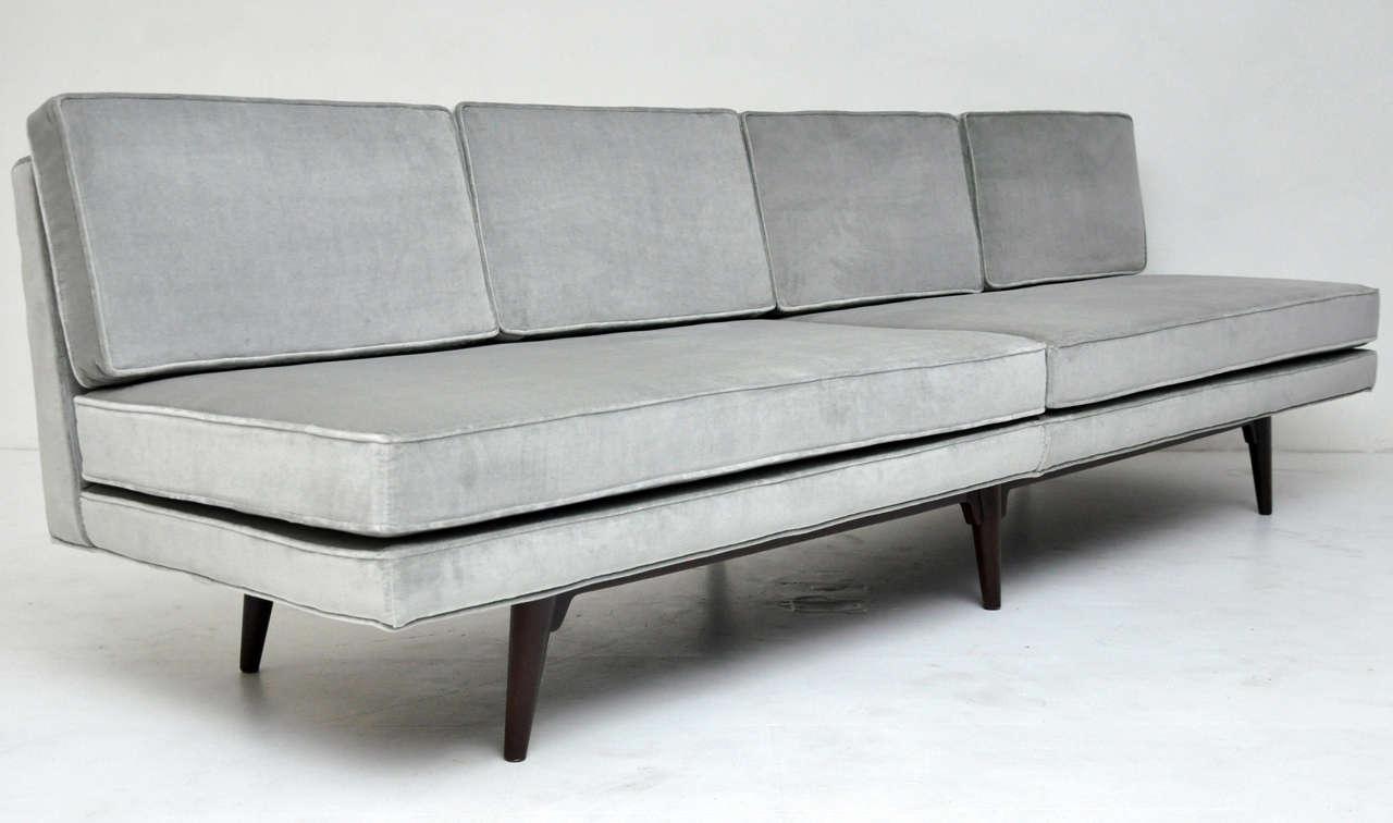 Dunbar Armless Sofa - Edward Wormley at 1stdibs