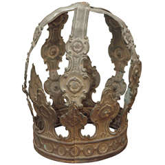 19th Century French Tole Crown