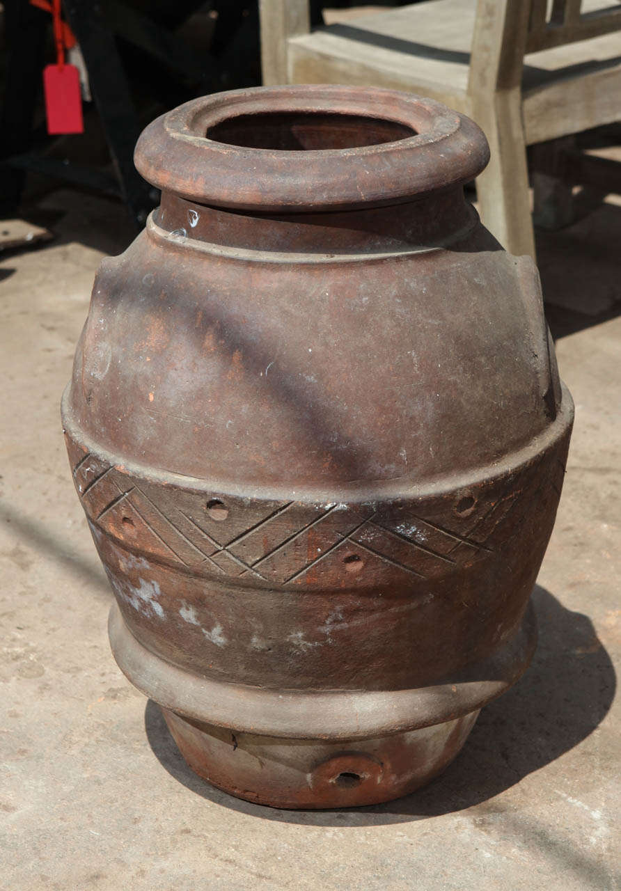 Greek terracotta olive oil jar, 19th century.