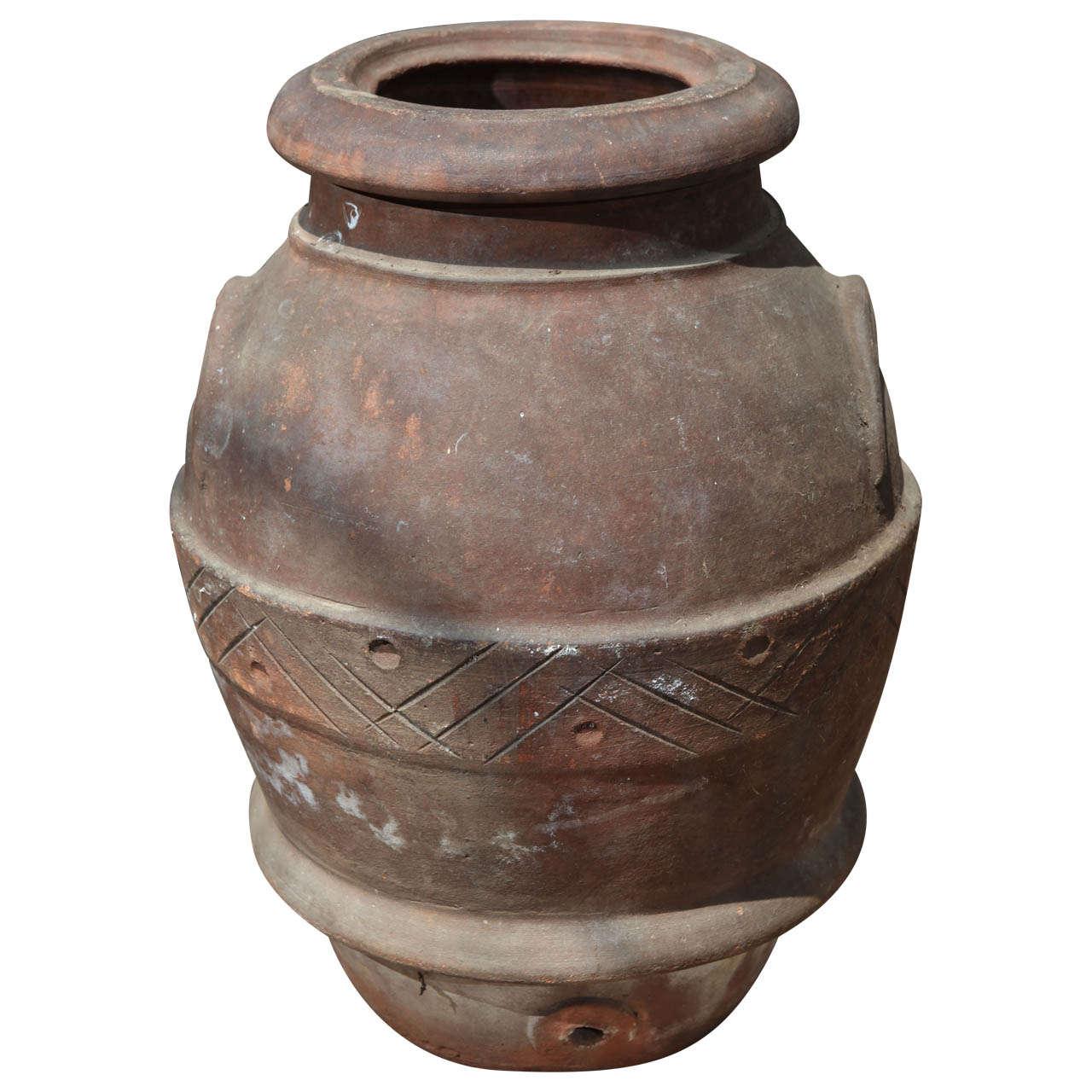 19th Century Olive Oil Jar At 1stdibs