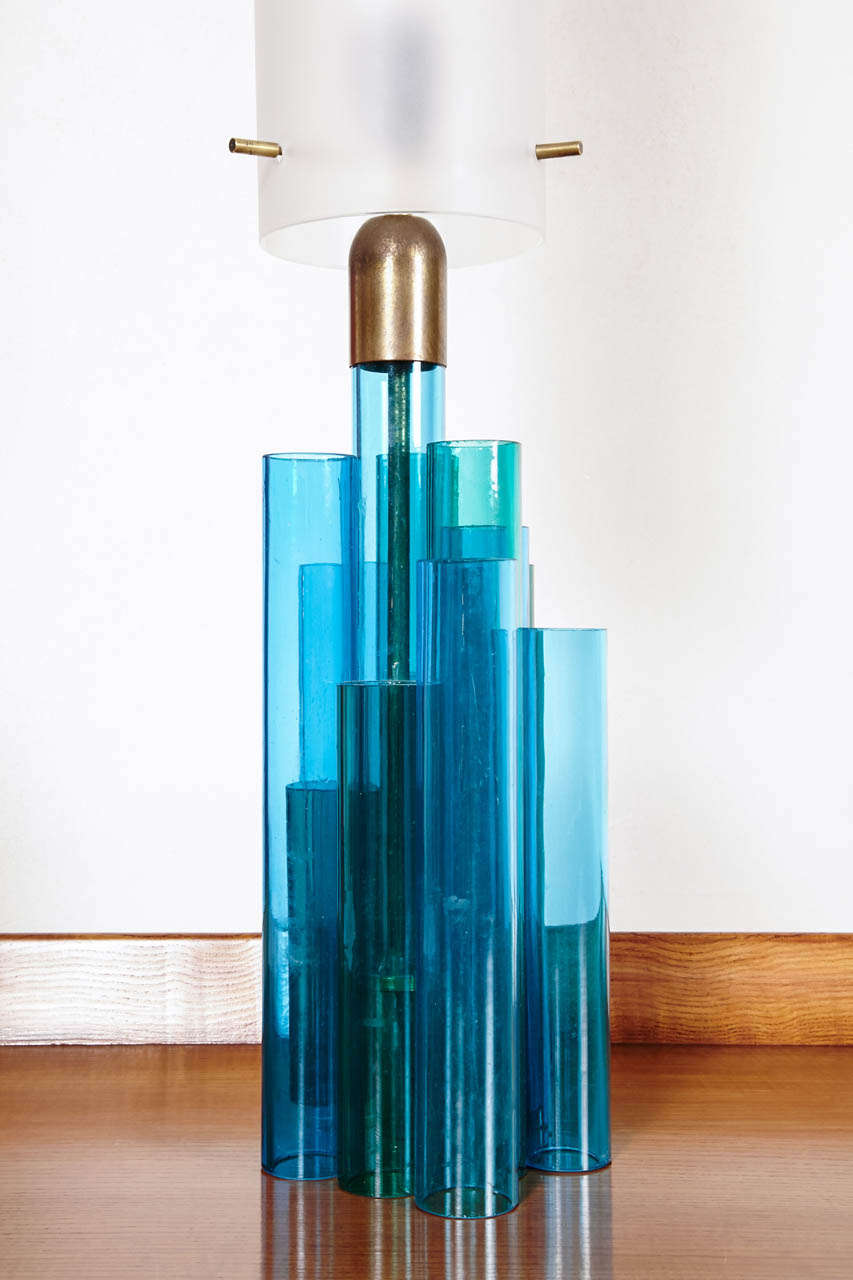 Original tubular glass table lamp ed stilnovo 1970 39 s at 1stdibs - The tubular glass house ...