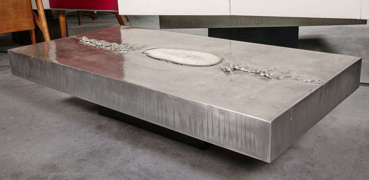 Original Coffee Table Marc Du0027haenens With Agate Inlay At 1stdibs Amazing Ideas
