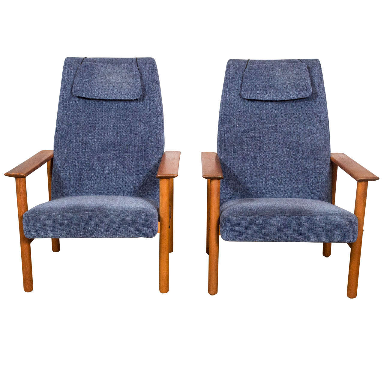 1960s Danish Modern Teak Lounge Chairs At 1stdibs