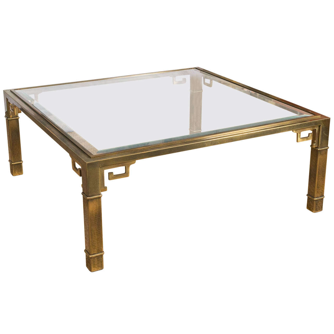 1970 39 S Brass Greek Key Coffee Table By Mastercraft At 1stdibs