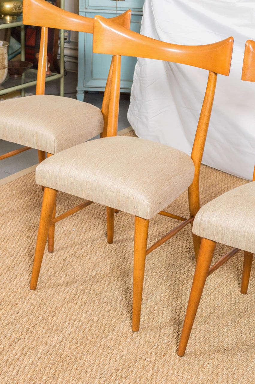 eight paul mccobb ribbon back dining chairs at 1stdibs